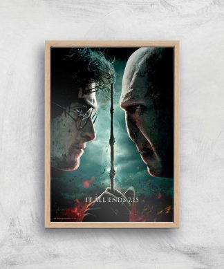 Harry Potter and the Deathly Hallows Part 2 Giclee Art Print - A3 - Wooden Frame chez Casa Décoration