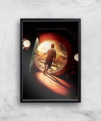 The Hobbit: An Unexpected Journey Giclee Art Print - A4 - Black Frame chez Casa Décoration