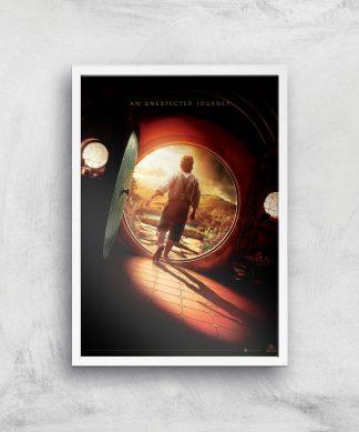 The Hobbit: An Unexpected Journey Giclee Art Print - A3 - White Frame chez Casa Décoration
