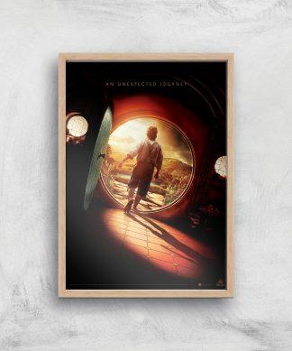 The Hobbit: An Unexpected Journey Giclee Art Print - A2 - Wooden Frame chez Casa Décoration