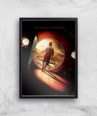 The Hobbit: An Unexpected Journey Giclee Art Print - A2 - Black Frame chez Casa Décoration