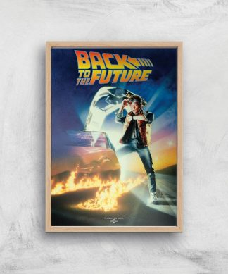 Back To The Future Part 1 Giclee Art Print - A4 - Wooden Frame chez Casa Décoration