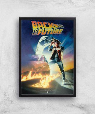 Back To The Future Part 1 Giclee Art Print - A2 - Black Frame chez Casa Décoration
