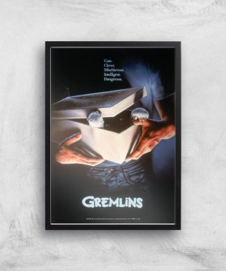 Gremlins Giclee Art Print - A4 - Black Frame chez Casa Décoration