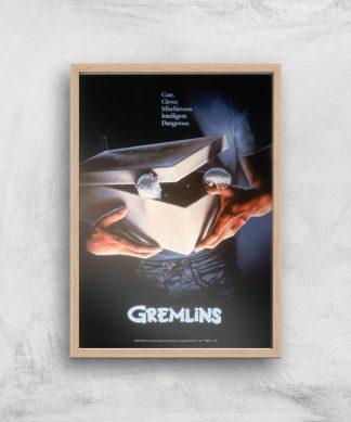 Gremlins Giclee Art Print - A3 - Wooden Frame chez Casa Décoration