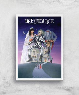 Beetlejuice Giclee Art Print - A4 - White Frame chez Casa Décoration