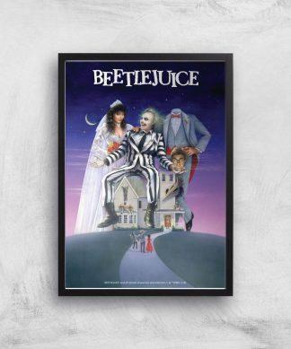 Beetlejuice Giclee Art Print - A4 - Black Frame chez Casa Décoration