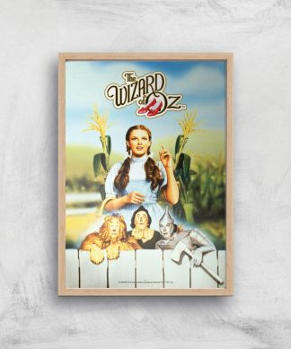The Wizard Of Oz Giclee Art Print - A4 - Wooden Frame chez Casa Décoration