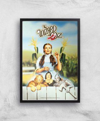 The Wizard Of Oz Giclee Art Print - A3 - Black Frame chez Casa Décoration