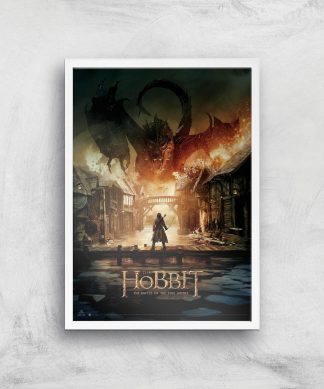 The Hobbit: Battle Of The Five Armies Giclee Art Print - A2 - White Frame chez Casa Décoration