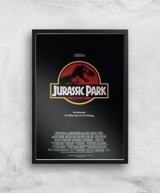 Jurassic Park Giclee Art Print - A4 - Black Frame chez Casa Décoration