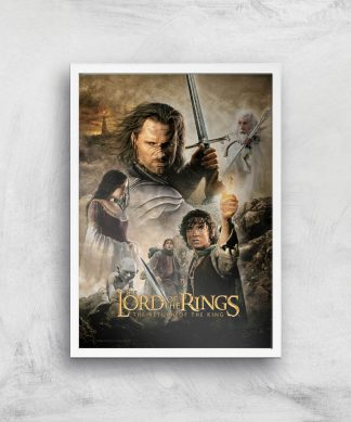Lord Of The Rings: The Return Of The King Giclee Art Print - A2 - White Frame chez Casa Décoration