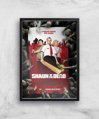 Shaun Of The Dead Giclee Art Print - A4 - Black Frame chez Casa Décoration