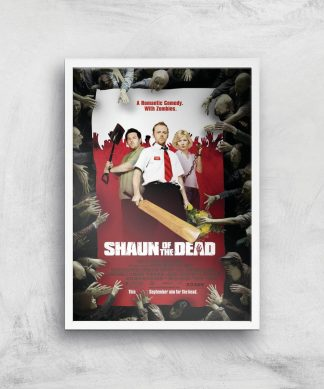 Shaun Of The Dead Giclee Art Print - A3 - White Frame chez Casa Décoration
