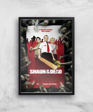 Shaun Of The Dead Giclee Art Print - A3 - Black Frame chez Casa Décoration