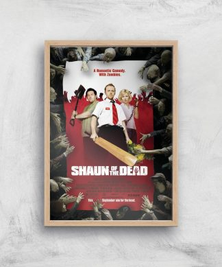 Shaun Of The Dead Giclee Art Print - A2 - Wooden Frame chez Casa Décoration