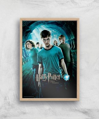 Harry Potter and the Order Of The Phoenix Giclee Art Print - A4 - Wooden Frame chez Casa Décoration