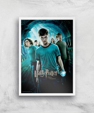 Harry Potter and the Order Of The Phoenix Giclee Art Print - A4 - White Frame chez Casa Décoration