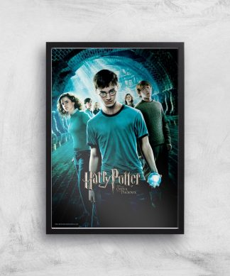 Harry Potter and the Order Of The Phoenix Giclee Art Print - A4 - Black Frame chez Casa Décoration