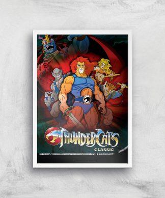 Thundercats Giclee Art Print - A4 - White Frame chez Casa Décoration