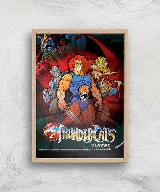 Thundercats Giclee Art Print - A3 - Wooden Frame chez Casa Décoration