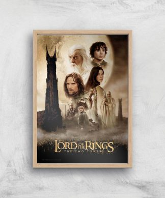 Lord Of The Rings: The Two Towers Giclee Art Print - A4 - Wooden Frame chez Casa Décoration