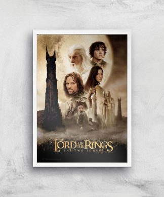 Lord Of The Rings: The Two Towers Giclee Art Print - A4 - White Frame chez Casa Décoration