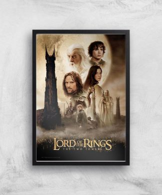 Lord Of The Rings: The Two Towers Giclee Art Print - A2 - Black Frame chez Casa Décoration