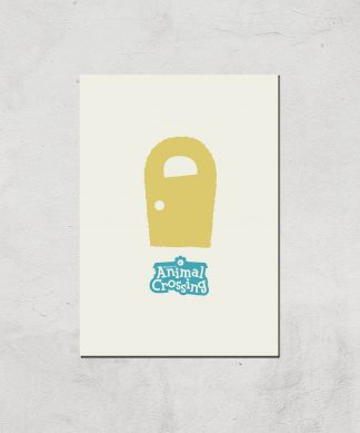 Nintendo Animal Crossing Yellow Door Art Print - A2 - Print Only chez Casa Décoration