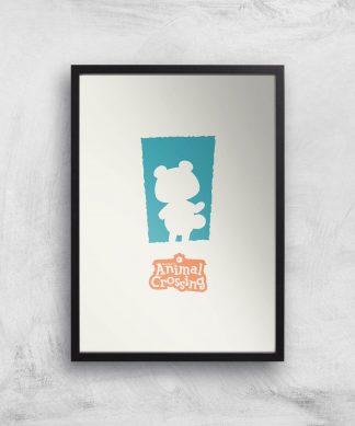 Nintendo Animal Crossing Blue Door Art Print - A4 - Black Frame chez Casa Décoration