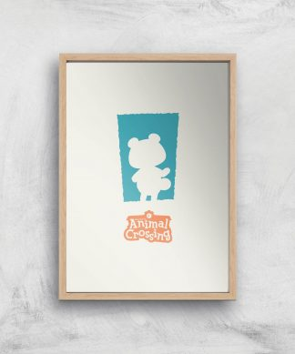 Nintendo Animal Crossing Blue Door Art Print - A2 - Wooden Frame chez Casa Décoration