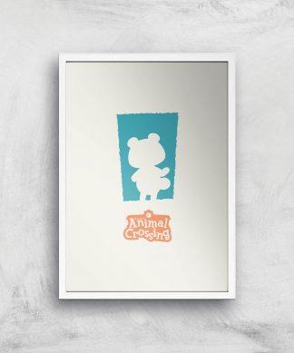 Nintendo Animal Crossing Blue Door Art Print - A2 - White Frame chez Casa Décoration