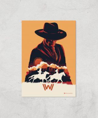 Westworld The Man In Black A2 Giclee Art Print chez Casa Décoration