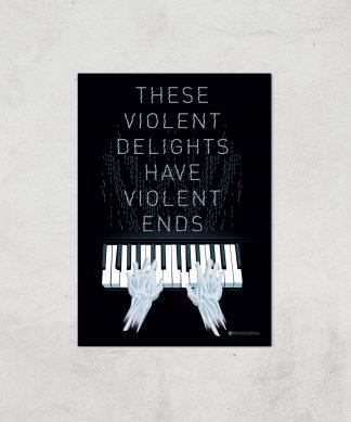 Westworld Violent Delights And Violent Ends A2 Giclee Art Print chez Casa Décoration