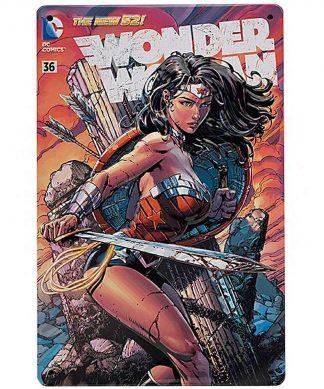 DC Comics Wonder Woman #36 Tin Plate Poster chez Casa Décoration