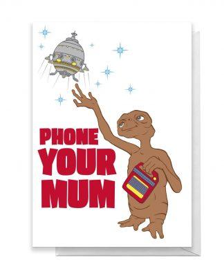 E.T. Phone Your Mum Greetings Card - Large Card chez Casa Décoration