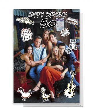 Friends Birthday 50th Greetings Card - Large Card chez Casa Décoration