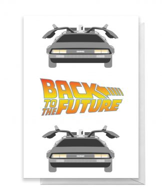 Back To The Future DeLorean Greetings Card - Large Card chez Casa Décoration