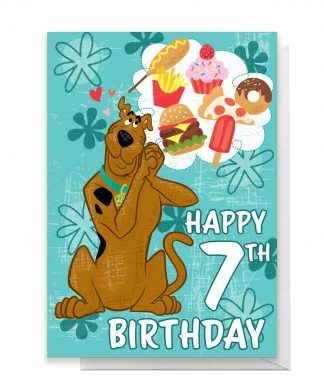 Scooby Doo 7th Birthday Greetings Card - Standard Card chez Casa Décoration