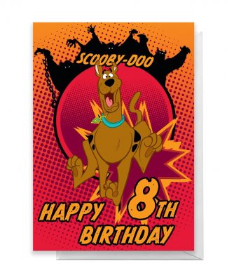 Scooby Doo 8th Birthday Greetings Card - Standard Card chez Casa Décoration