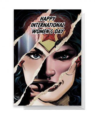 Wonder Woman International Women's Day Greetings Card - Standard Card chez Casa Décoration