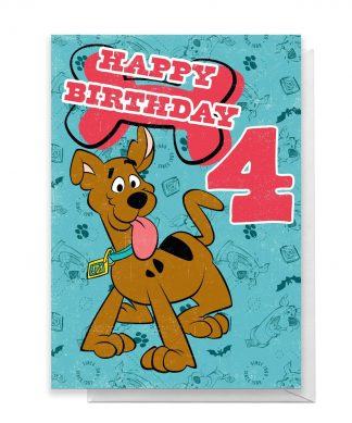 Scooby Doo 4th Birthday Greetings Card - Standard Card chez Casa Décoration
