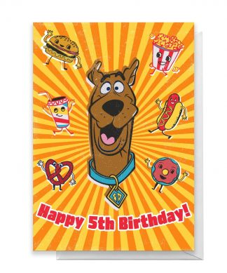 Scooby Doo 5th Birthday Greetings Card - Giant Card chez Casa Décoration