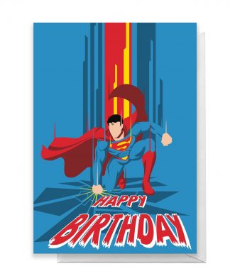 Superman Happy Birthday Greetings Card - Large Card chez Casa Décoration
