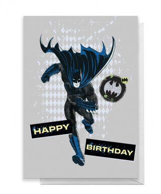 Batman Happy Birthday Greetings Card - Large Card chez Casa Décoration