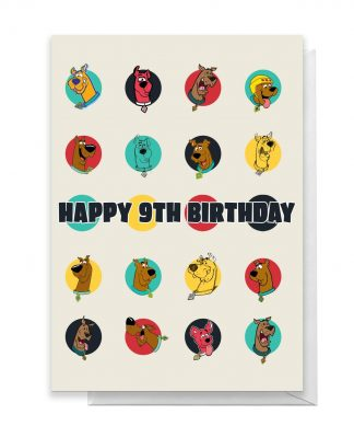 Scooby Doo 9th Birthday Greetings Card - Standard Card chez Casa Décoration