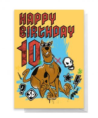 Scooby Doo 10th Birthday Greetings Card - Standard Card chez Casa Décoration