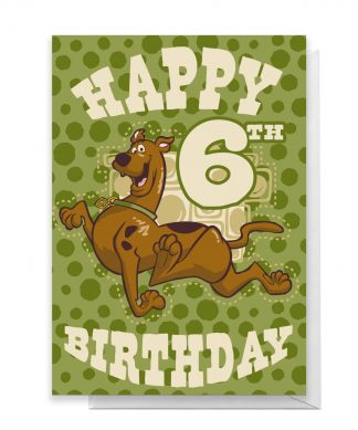 Scooby Doo 6th Birthday Greetings Card - Large Card chez Casa Décoration