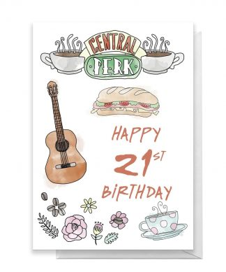 Friends Birthday 21st Greetings Card - Large Card chez Casa Décoration