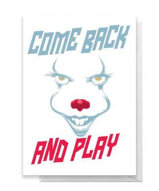 IT Come Back Greetings Card - Large Card chez Casa Décoration